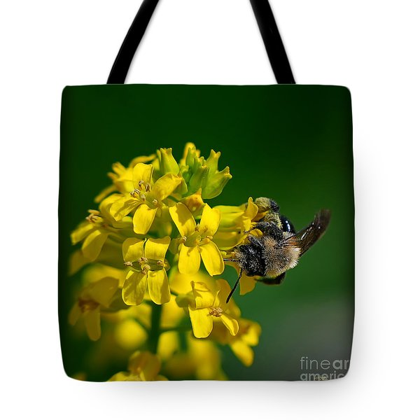 Fanfare For The Common Bumblebee Tote Bag by Lois Bryan
