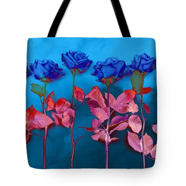 Fantasy Blues Tote Bag by Michelle Wiarda