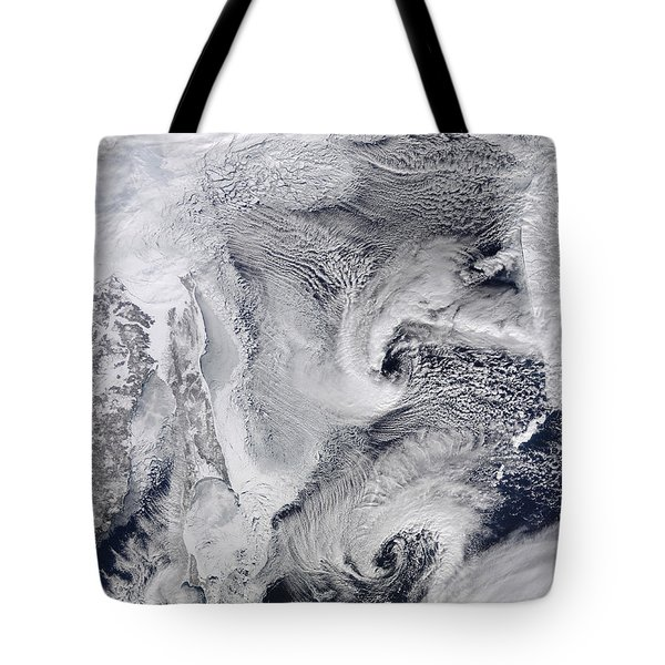 Far Eastern Russia Covered In Snow Tote Bag by Stocktrek Images