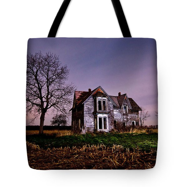 Farm House at night Tote Bag by Cale Best