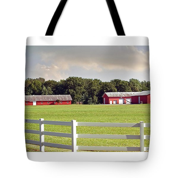 Farm Pasture Tote Bag by Brian Wallace