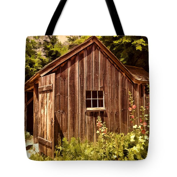 Farming Shed Tote Bag by Lourry Legarde