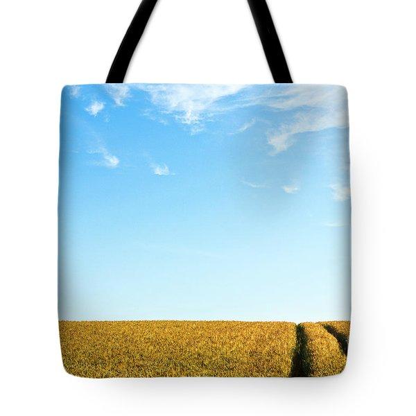 Farmland To The Horizon 1 Tote Bag by Heiko Koehrer-Wagner