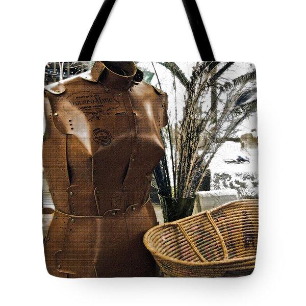 Fashionable Flea Market Tote Bag by Gwyn Newcombe