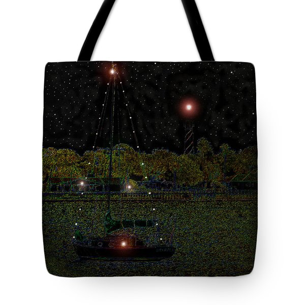 Fat Moon Bay Tote Bag by David Lee Thompson