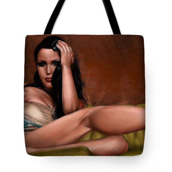 Fatal Attraction Tote Bag by Pete Tapang