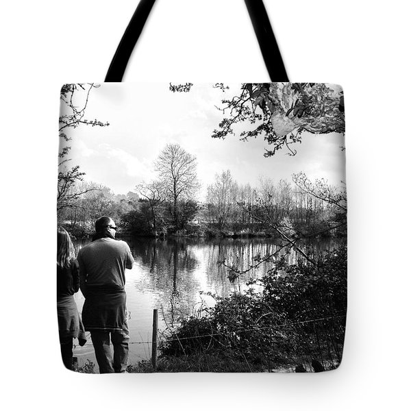 Father And Daughter - River Dee Chester Tote Bag by Georgia Fowler
