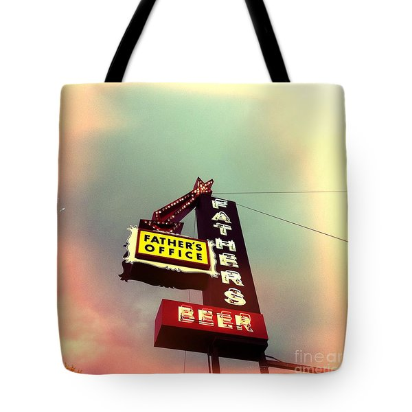 Father's Office Beer Tote Bag by Nina Prommer