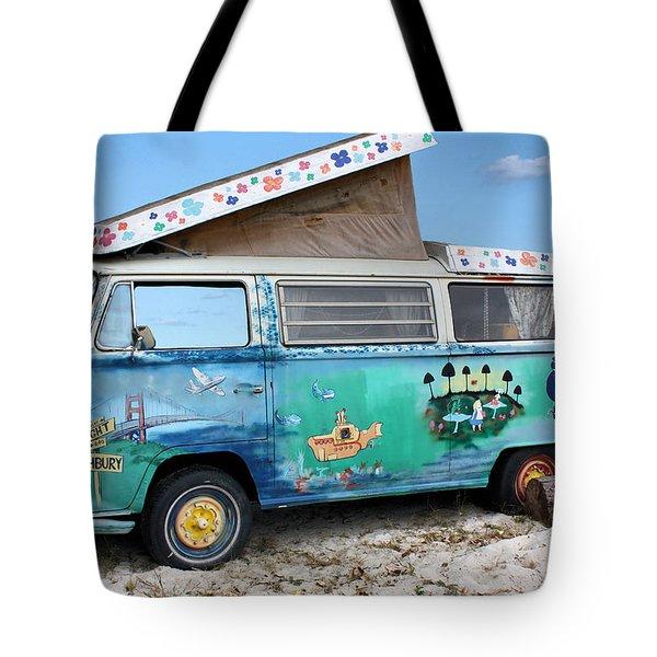 Feelin' Groovy Tote Bag by Kristin Elmquist