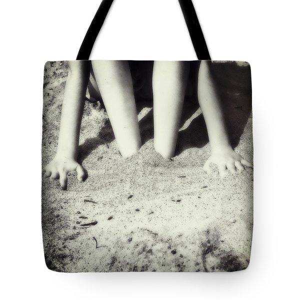 Feet In The Sand Tote Bag by Joana Kruse