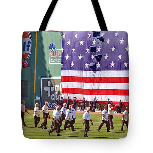 Fenway Park 100th Tote Bag by Joann Vitali