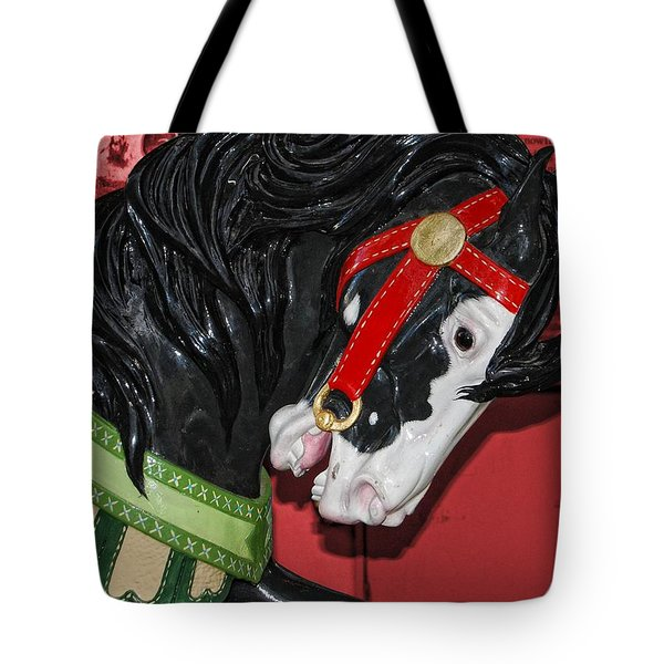 Fiery Stallion Tote Bag by JAMART Photography