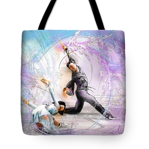 Figure Skating 02 Tote Bag by Miki De Goodaboom