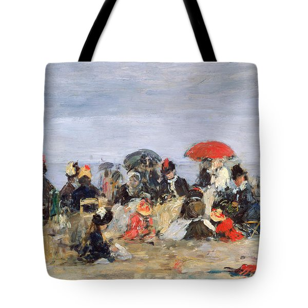 Figures On A Beach Tote Bag by Eugene Louis Boudin