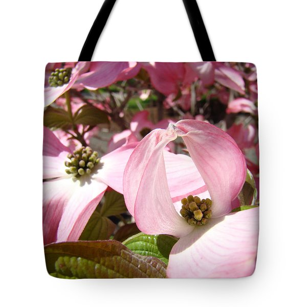 Fine Art Prints Pink Dogwood Flowers Tote Bag by Baslee Troutman