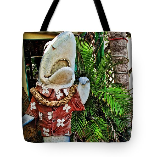Fins To The Left Tote Bag by Joan  Minchak