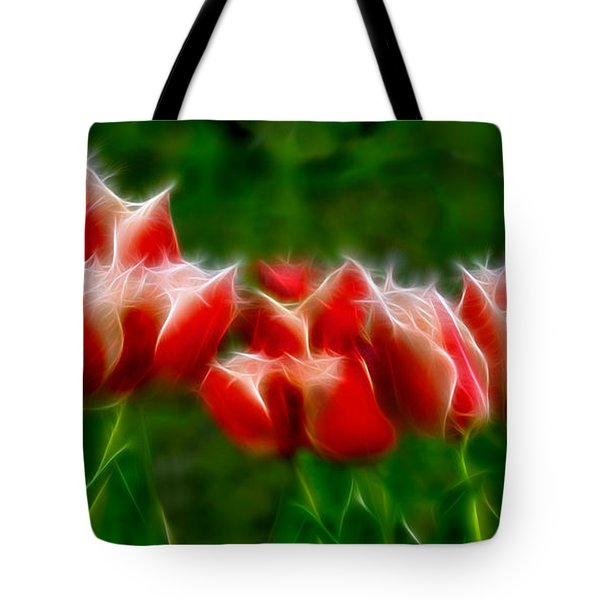 Fire and Ice Fractal  Tote Bag by Peter Piatt