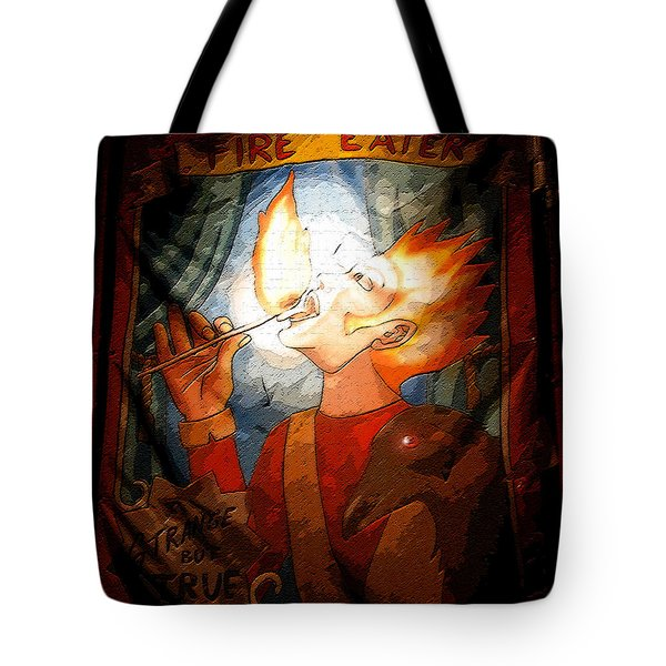 Fire Eater Tote Bag by David Lee Thompson