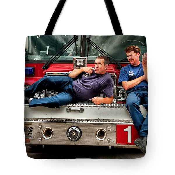Fire engine one Tote Bag by Vincent Cascio