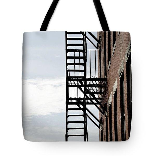 Fire Escape In Boston Tote Bag by Elena Elisseeva