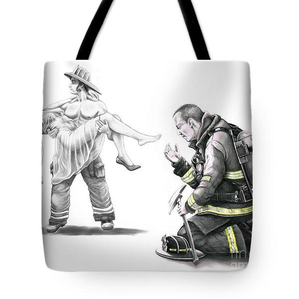 Fire Rescue Tote Bag by Murphy Elliott