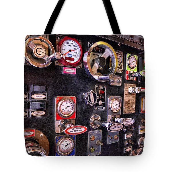 Fireman - Discharge Panel Tote Bag by Paul Ward