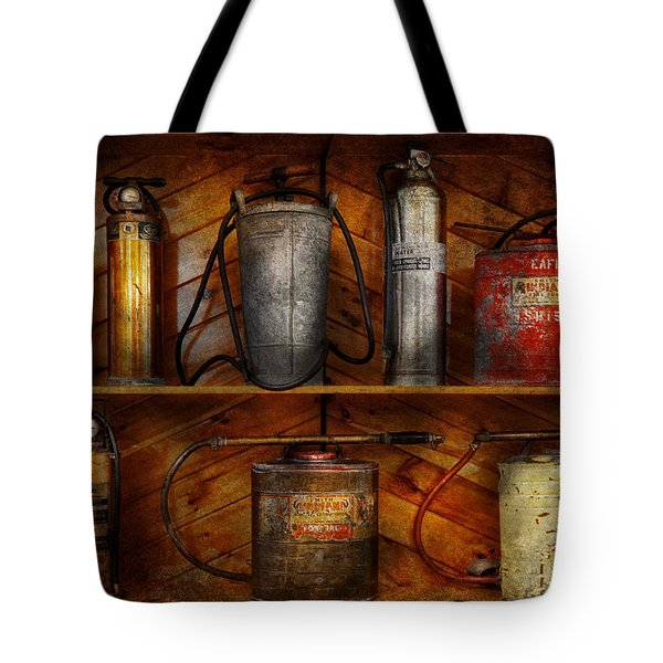 Fireman - Fire Control Tote Bag by Mike Savad