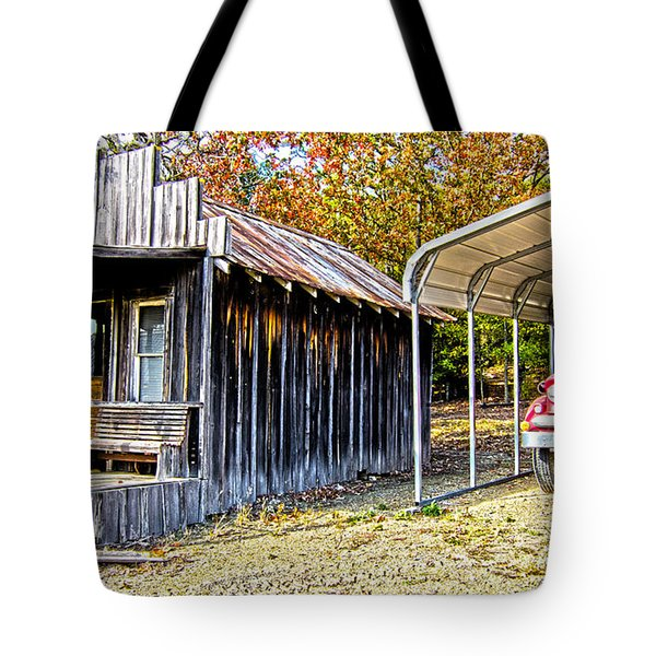 Fireman Cottage Tote Bag by Douglas Barnard