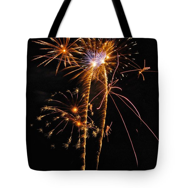 Fireworks 2 Tote Bag by Michael Peychich