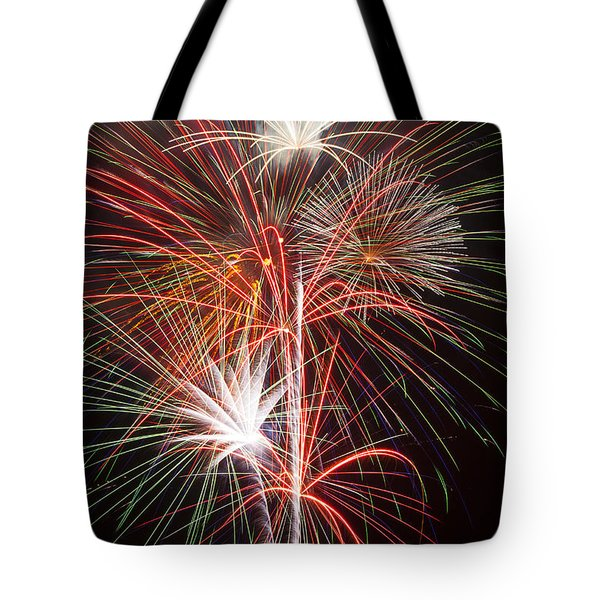 Fireworks Light Up The Night Tote Bag by Garry Gay