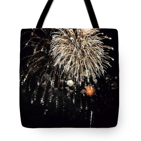 Fireworks Tote Bag by Michelle Calkins