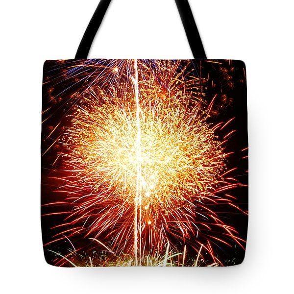 Fireworks_1591 Tote Bag by Michael Peychich