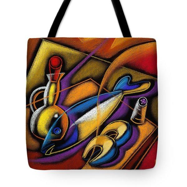 Fish Tote Bag by Leon Zernitsky
