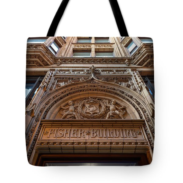 Fisher Building Chicago Tote Bag by Steve Gadomski