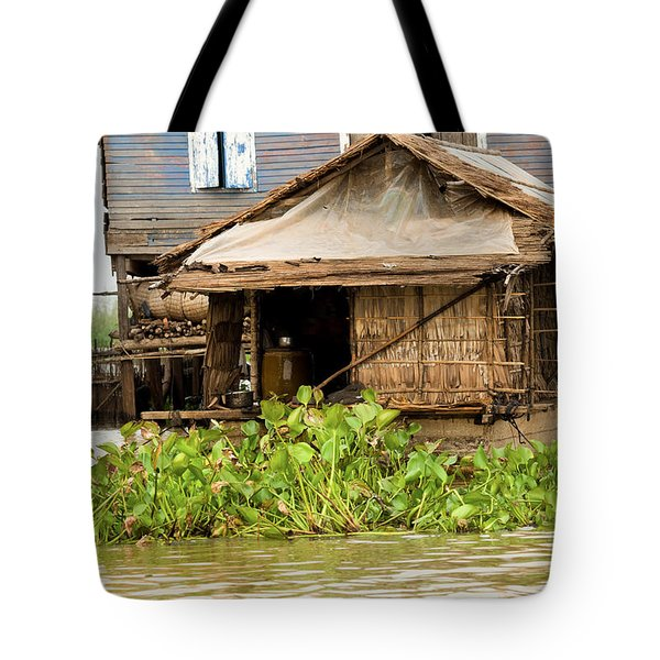 Fisherman Boat House Tote Bag by Artur Bogacki