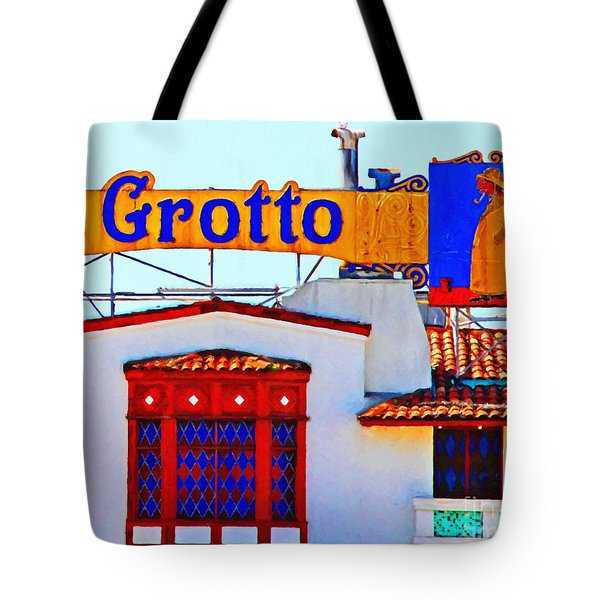 Fishermens Grotto Restaurant At Fishermans Wharf . San Francisco California . 7d14350 Tote Bag by Wingsdomain Art and Photography