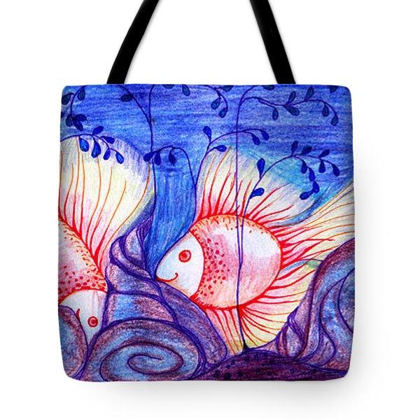 Fishes Tote Bag by Hong Diep Loi