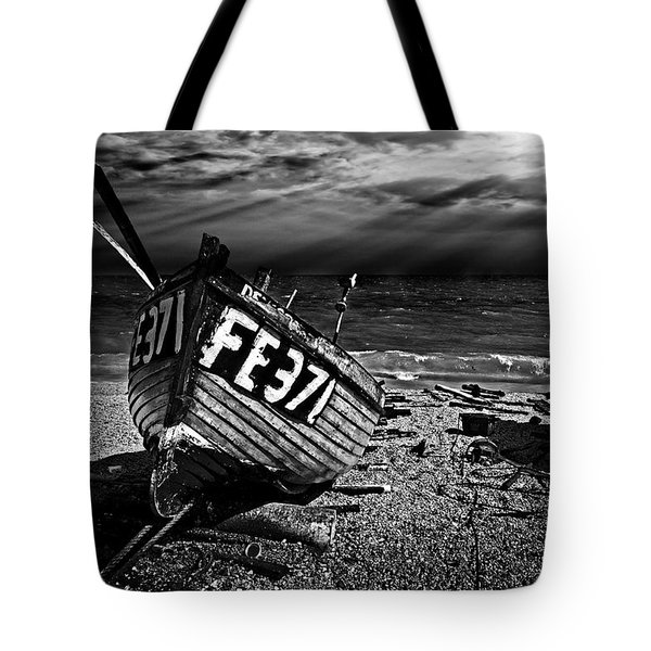 fishing boat FE371 Tote Bag by Meirion Matthias