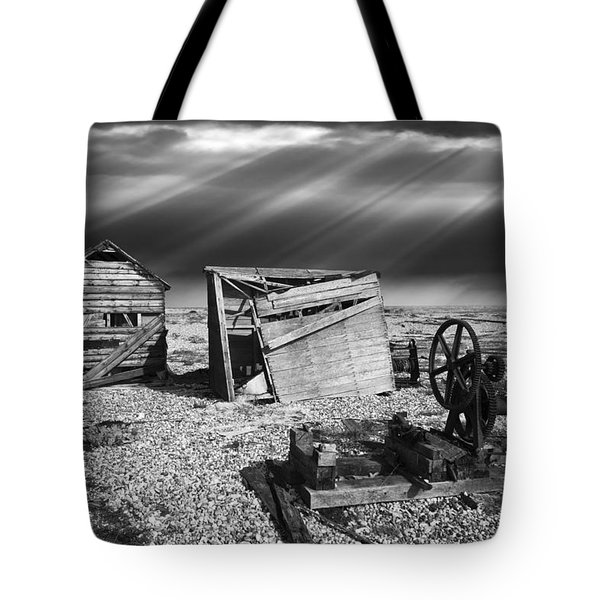 fishing boat graveyard 4 Tote Bag by Meirion Matthias