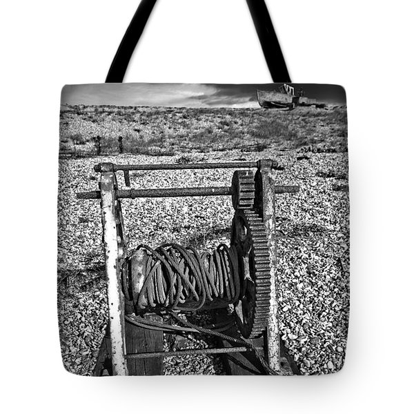 fishing boat graveyard 8 Tote Bag by Meirion Matthias
