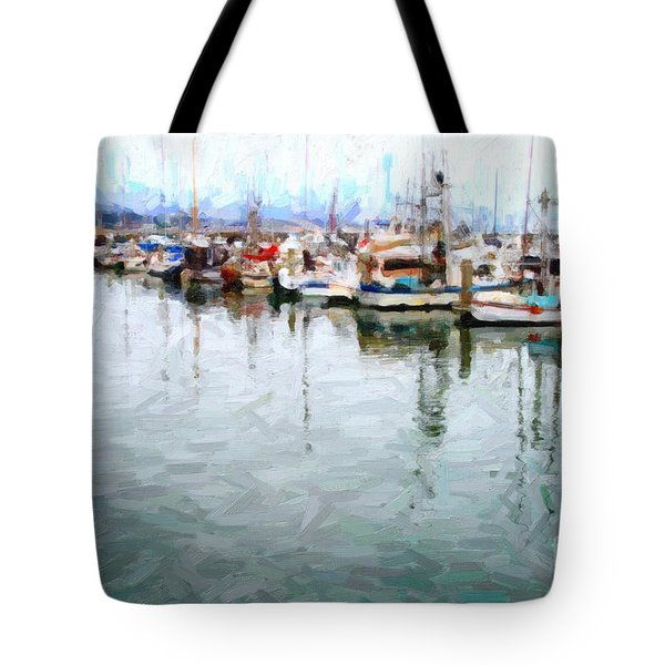 Fishing Boats At The Dock . 7d8187 Tote Bag by Wingsdomain Art and Photography