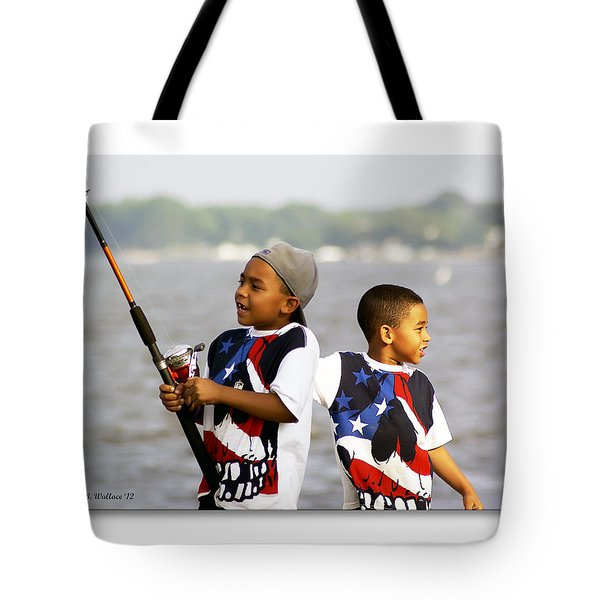 Fishing Brothers Tote Bag by Brian Wallace