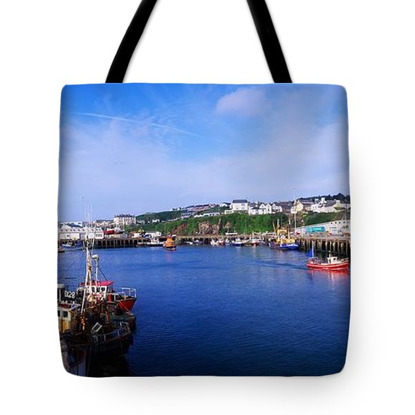 Fishing Harbour, Dunmore East, Ireland Tote Bag by The Irish Image Collection