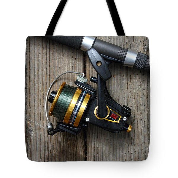 Fishing Rod And Reel . 7d13542 Tote Bag by Wingsdomain Art and Photography