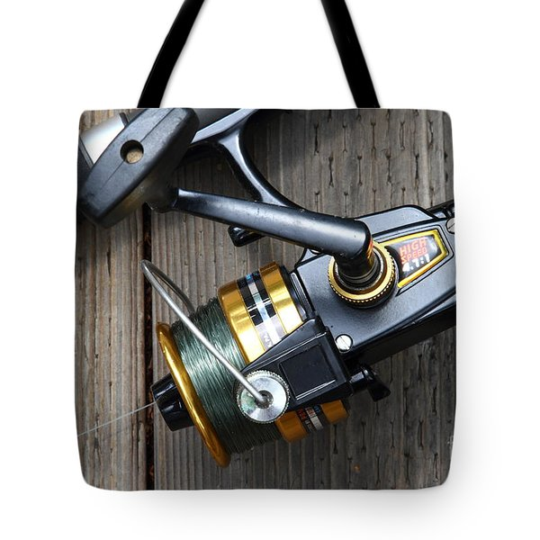Fishing Rod and Reel . 7D13565 Tote Bag by Wingsdomain Art and Photography