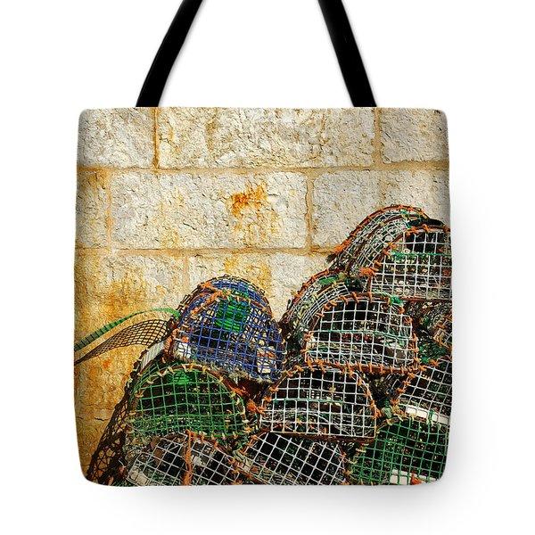 fishing traps Tote Bag by Carlos Caetano