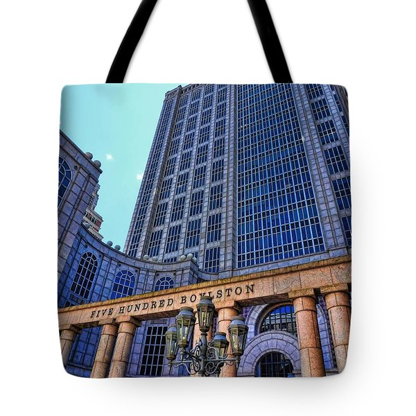 Five Hundred Boylston - Boston Architecture Tote Bag by Julia Springer