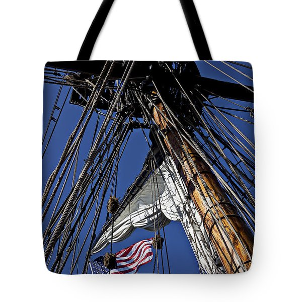 Flag In The Rigging Tote Bag by Garry Gay