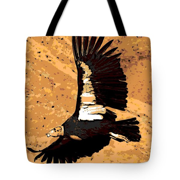 Flight Of The Condor Tote Bag by George Pedro