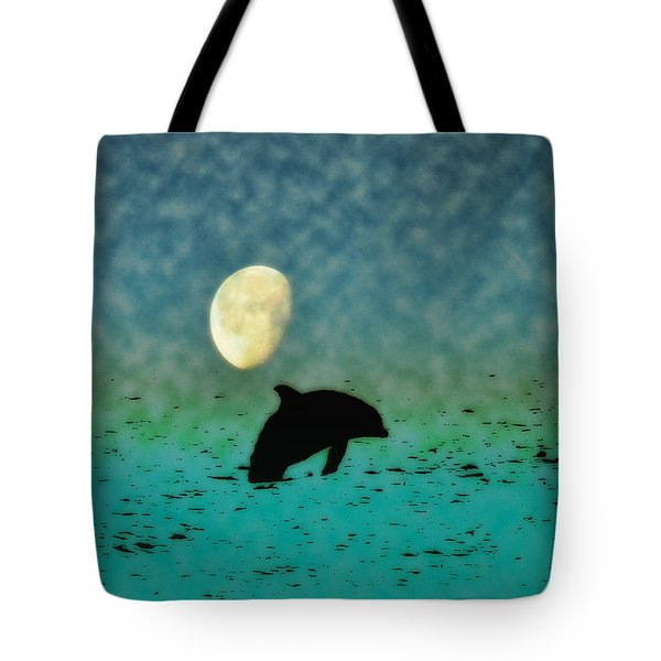 Flippers Moonlight Swim Tote Bag by Bill Cannon